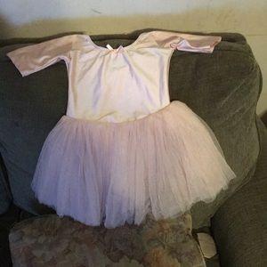Pink ballerina one piece tutu